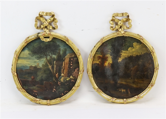Pair of 19thC Oil on Copper Paintings