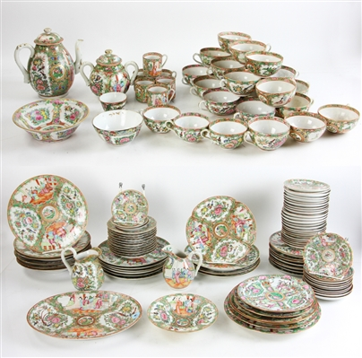 Collection of Chinese Rose Medallion China