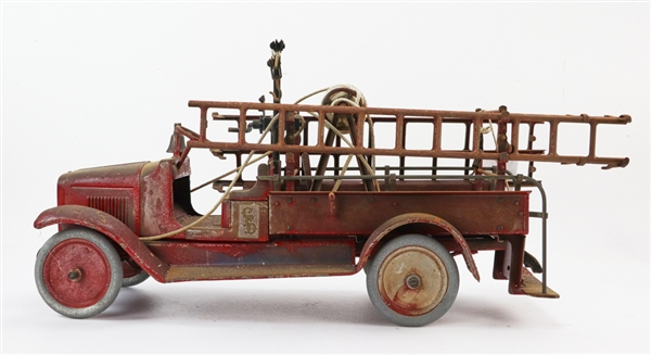 Antique Buddy L Toy Fire Truck