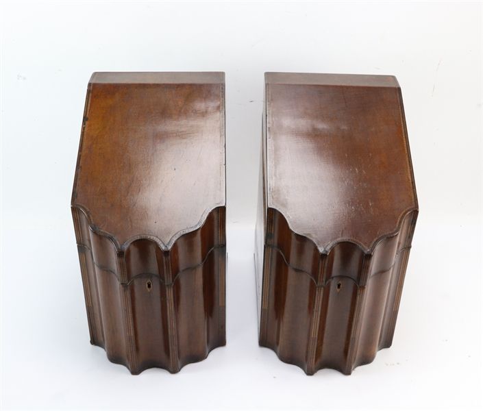 Pair of 19thC Federal Style Knife Boxes