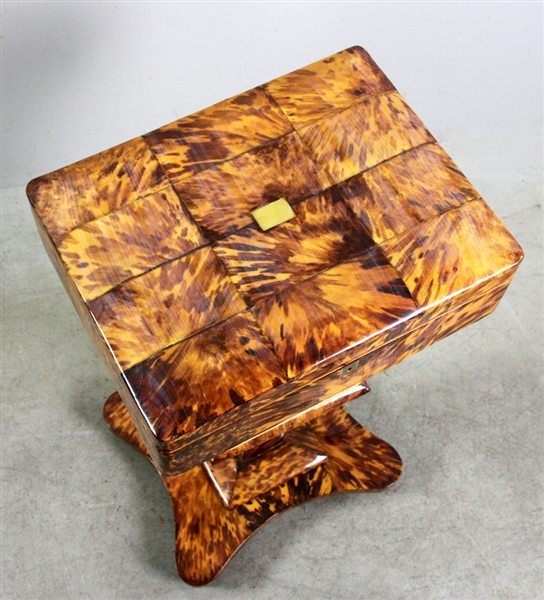 Faux Tortoise Shell Work Table