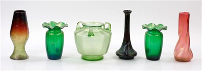 Collection of C1900 Bohemian Glass