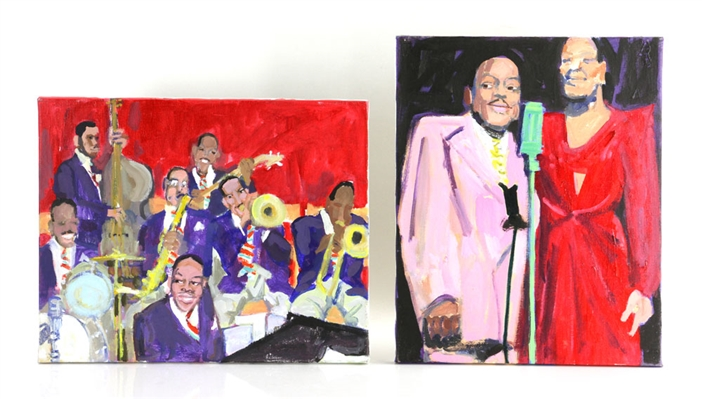 Zuka, Two Jazz Paintings