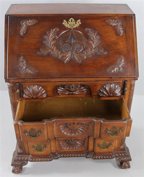 Exceptional 19thC Boston Block Front Desk