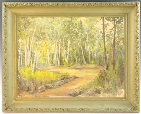 Maxine Beyer, Woodland View, Watercolor Oil