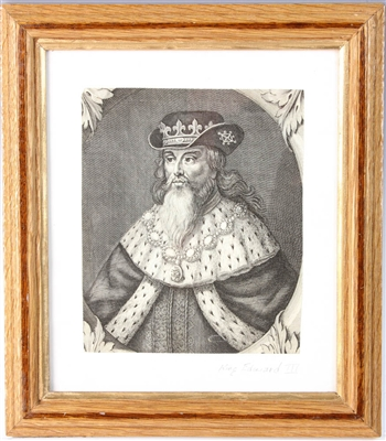 Etching of King Edward III
