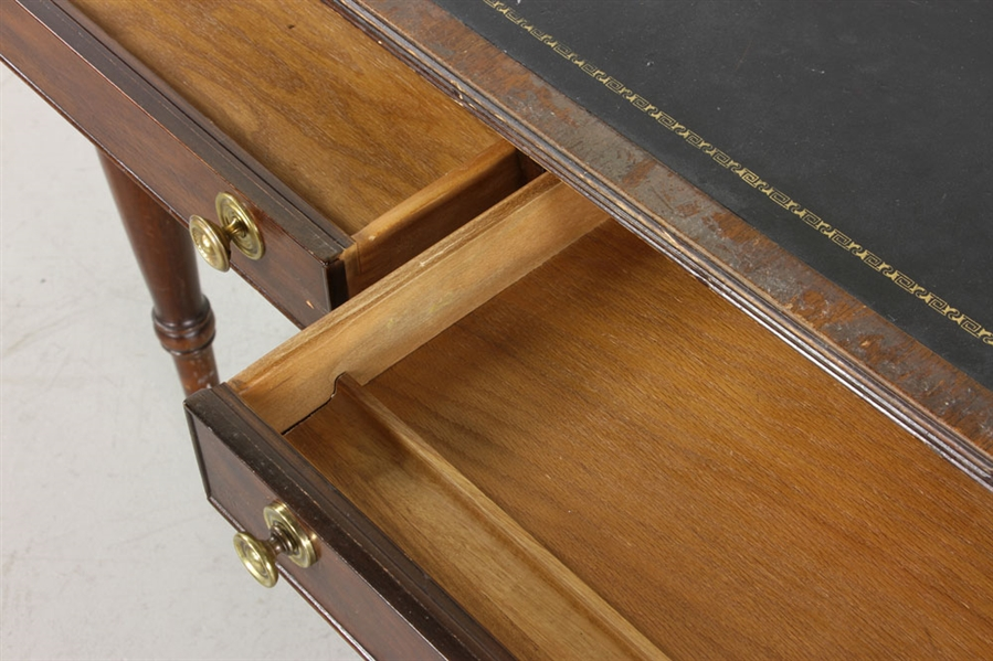 Mahogany Leather Top Desk