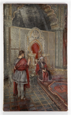 Morse, Arabic Interior View, Oil on Canvas