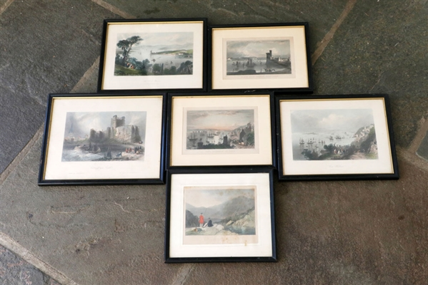 Lot of (6) English & Irish Colored Prints
