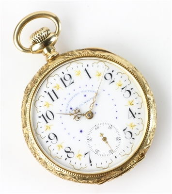 18k Yellow Gold A.W. Waltham Pocket Watch