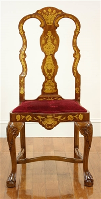 Dutch Style Marquetry Inlaid Chair