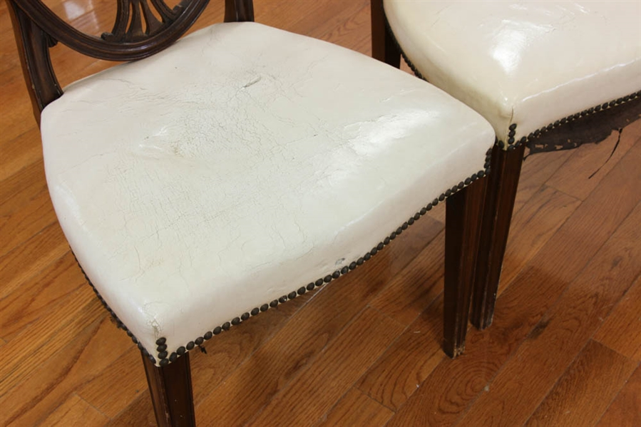 Six Federal Style Leather Upholstered Chairs