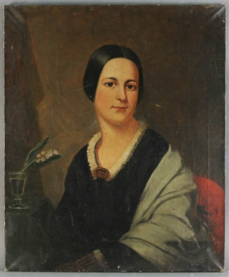 19thC British School Portrait of Lady