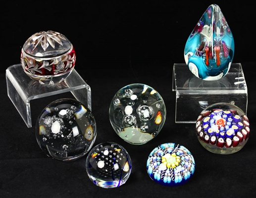 Collection of 20th Century Paperweights