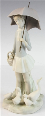 Lladro Figure of Woman with Umbrella