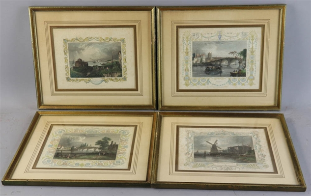 Group of Early Engravings of English Scenes