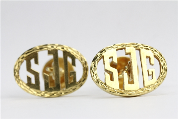 Pair of 18k Yellow Gold Cufflinks