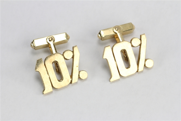 Pair of 14k Yellow Gold Figural 10% Cufflinks