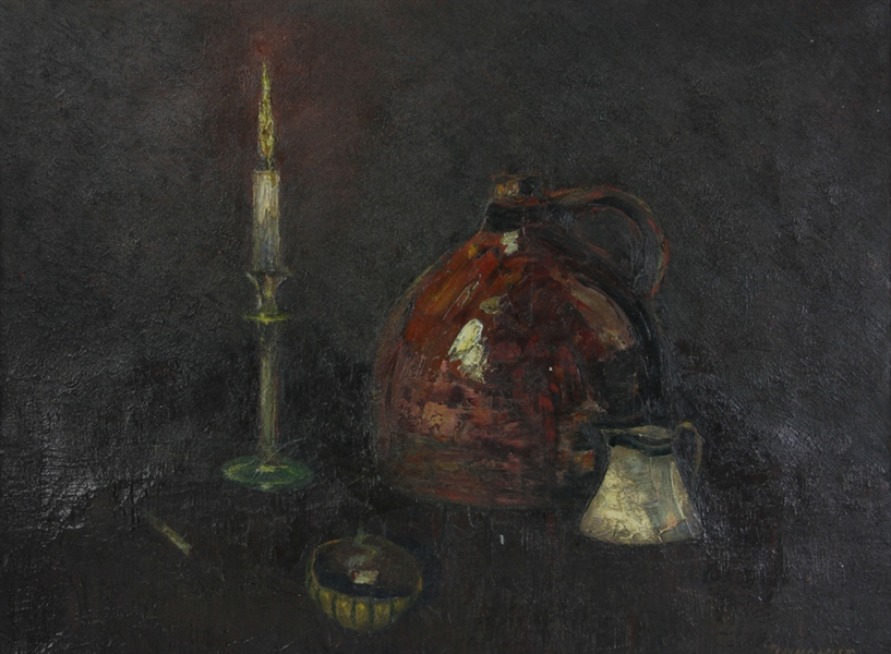 19thC Still Life, Signed Donahue, Oil on Canvas