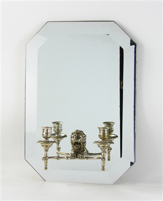 19th C Mirrored Wall Sconce
