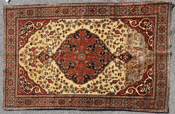 Antique Ferrahan Sarouk Rug