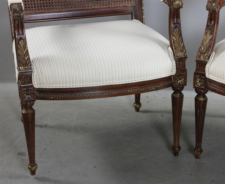 Pair of Louis XVI Style Armchairs