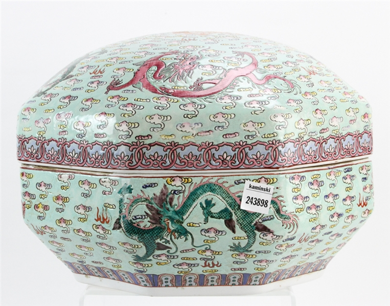 Chinese Covered Porcelain Jar