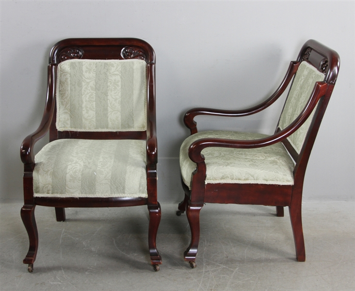 Pair of Classical Empire Chairs