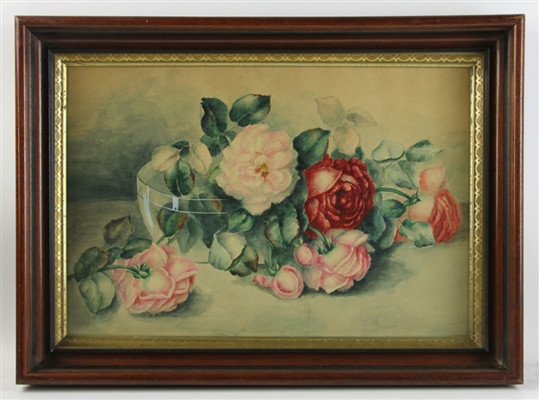 S. Osborne, Watercolor of Roses