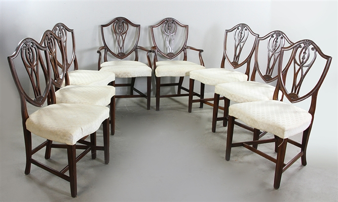 Set of (8) 19thC Federal Dining Chairs