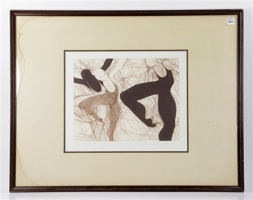 Ballet Dancers, Etching
