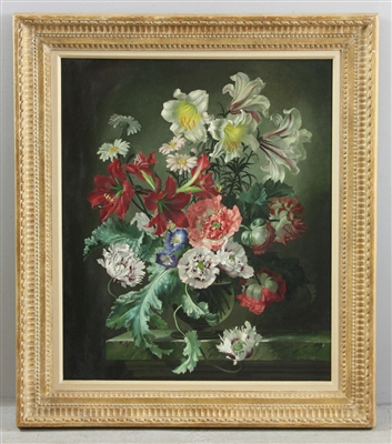 Gerald Cooper, Still Life of Flowers, Oil on Board
