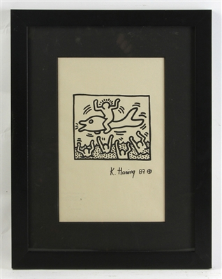 Keith Haring, Marker on Paper