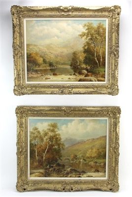 Pair of Landscapes by W H Mander