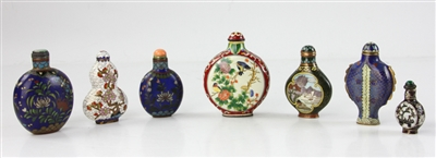 Chinese Cloisonne Snuff Bottles