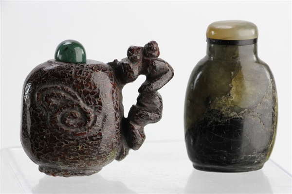 Chinese Carved Hardstone Snuff Bottles