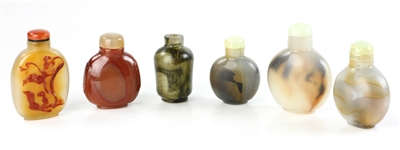 Chinese Agate Snuff Bottles