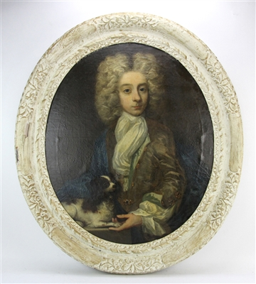 18thC English Portrait of Sir Isaac Newton