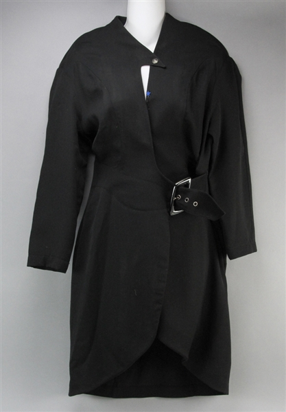 Vintage Thierry Mugler Black Wool Dress