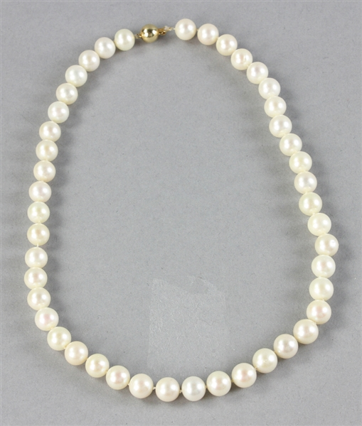 Pearl Necklace With Gold Clasp