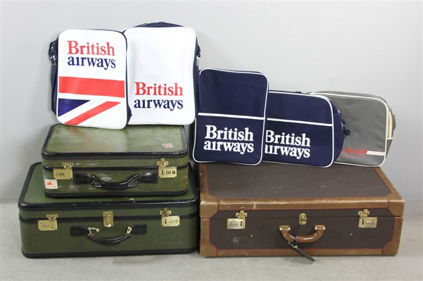 Three Luggages with Contents