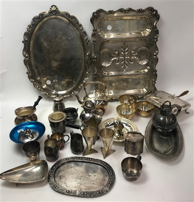 Large Collection of Old Silverplate