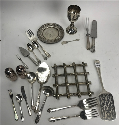 Assorted Silver/Silverplate Serving Pieces