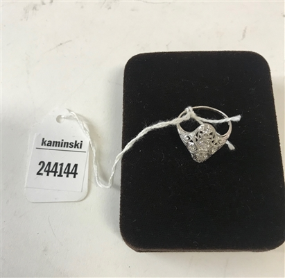 Platinum and Diamond Cocktail Ring