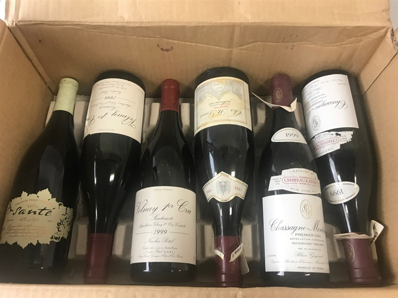 Box of (12) Bottles of Wine