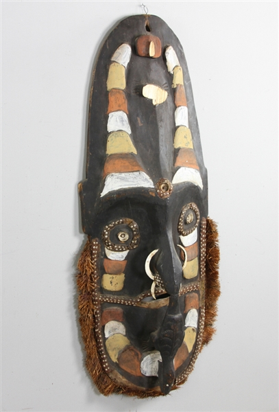 Old New Guinea Painted Wood Mask