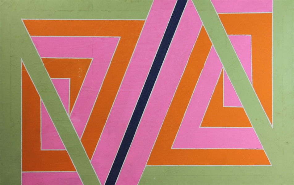 Attributed to Larry Zox, Abstract, Oil on Canvas