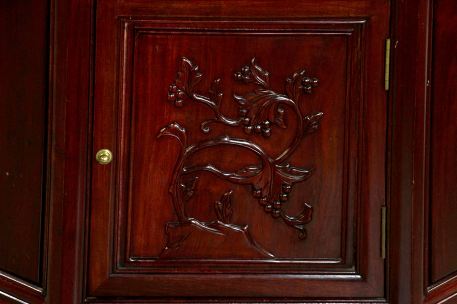 Chinese Rosewood Corner Cabinet