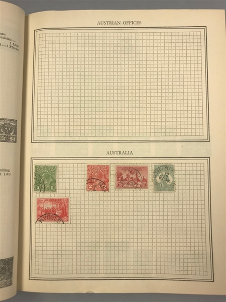 US and Foreign Stamp Album