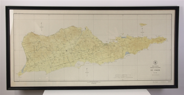 Map of West Indies, St Croix, Virgin Islands